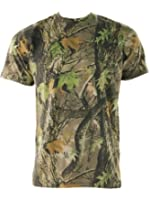 Mens GAME Camouflage Short Sleeve Crew Neck T Shirt
