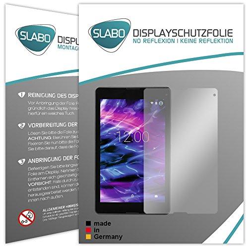 Slabo 2 x Bildschirmschutzfolie Medion Lifetab P8502 Bildschirmschutz Schutzfolie Folie No Reflexion|Keine Reflektion MATT - Entspiegelnd Made IN Germany