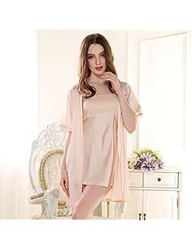XYZHF**Dos equipación Camiseta cubierta se desliza noble princesa encantadora pijama albornoz y tentación sexy...