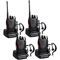 Proster Walkie Talkies Two Way Radio 16 Channel Rechargeable Walkie Talkie Ham Radio Transceiver UHF 400-470 MHz CTCSS DCS(2 Pairs)