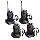 Proster 4PZ Walkie Talkie / 5W Due Vie 16 Canale Radio Walkie Talkie Ham Radio Ricetrasmettitore Ricaricabile UHF 400-470 MHz CTCSS DCS con Auricolari Originali e USB Caricabatterie