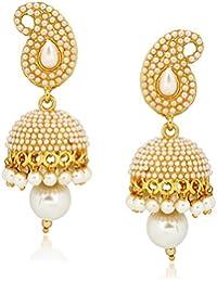 Amaal Jewellery Gold Plated Pearl Jhumka Earring Ear Rings For Girls Women Earring Necklace Jewellery Jhumki-J0139