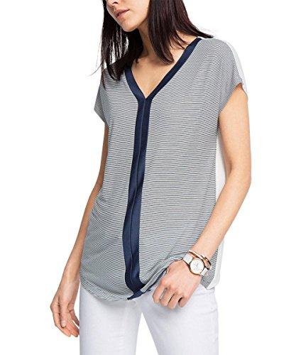 Esprit 046eo1k004-Regular Fit, T-Shirt Femme Bleu - Blau (NAVY 400)