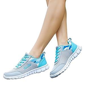 TianWlio Sneaker Damen Mode Schuhe Freizeitschuhe Outdoor Wanderschuhe Flats Schuh Sportschuhe Outdoorschuhe Blue Pink Purple 35 36 37 38 39 40 41 42