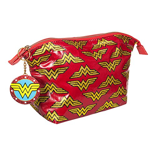 Wonder Woman Logo Make Up Bag and Compact Mirror