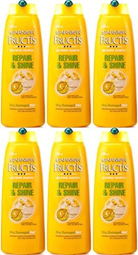 SIX BOTTLES of Garnier Fructis Repair & Shine Shampoo 250ml