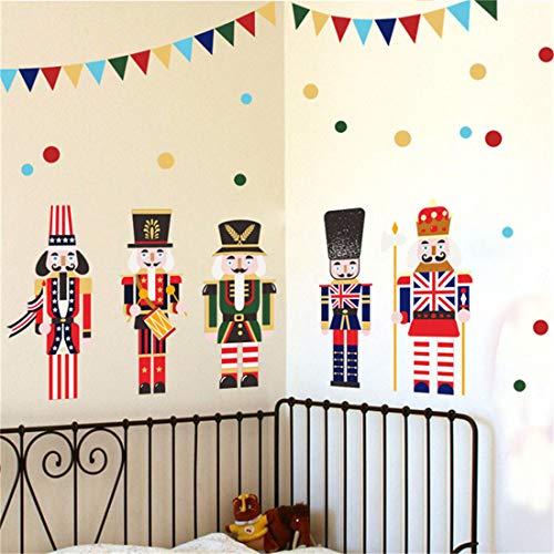 Nussknacker Puppe, britischen Stil Wandaufkleber Kinderzimmer, Dekoration Aufkleber Aufkleber