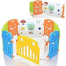 LCP Kids Corral M Parque de juegos infantil con gran elemento con integrados Juguetes / bebé barrera de seguridad - EN 71 certificado