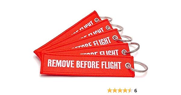 5er Set Schlüsselanhänger Remove Before Flight Bekleidung