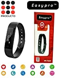 #8: Easypro Fitnessmust-3 Smart Fitness Band Blood Pressure Heart Rate Monitor Smart Watch Bluetooth Smart Fitness Tracker For Ios Android Devices