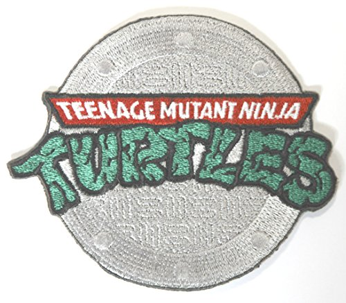 TMNT Kanalisation Logo Aufnäher Aufbügler Patch 8 cm Teenage Mutant Ninja Turtles Badge Kostüm Aufnäher Retro Cartoon Collectible Souvenir ()