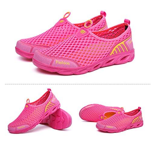 Scarpe da ginnastica alla moda da donna Shape-Ups Slip On Scarpe sportive da passeggio Scarpe da ginnastica atletiche Scarpe da corsa traspiranti Mocassini da esterno Rosa