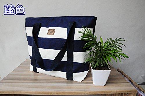 GUMO-Spiaggia di borse, borsette, grande capacità, sacchi di tela, grandi sacchi, borse messenger, donne single borsa a tracolla,nero Blue