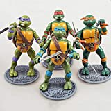 JXMODEL Teenage Mutant Ninja Turtles Actionfigur Modell TMNT Raphael Leonardo Donatello Startseite Sammlung Abbildung-16cm A