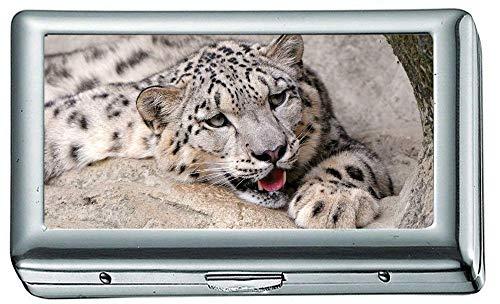 Zigarettenschachtel, Snow Leopard Zigarettenetui / -schachtel, Kreditkartenetui für Damen - Snow Leopard Kostüm Zubehör