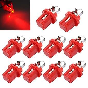 10x ampoule led compteur tableau de bord b8 5d t5 avec support rouge tuning auto voiture lumiere. Black Bedroom Furniture Sets. Home Design Ideas