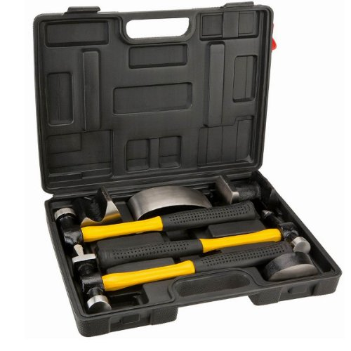 7 tlg Hammerset, Ausbeulwerkzeuga, Hammer Richtsatz, Ausbeulset, kugelhammer, Ausbeulsatz