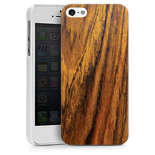 Apple iPhone 7s Hülle Case Handyhülle Holz Look Königsholz Holzboden Hard Case weiß