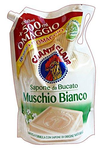 Chante Clair - Ecoricarica Sapone da bucato, Muschio Bianco