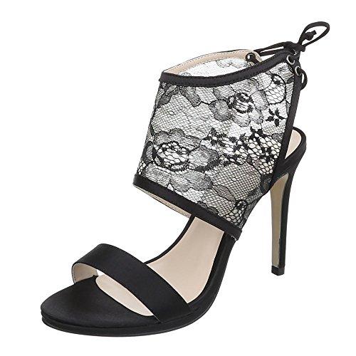 Ital-Design - Scarpe con plateau Donna Nero