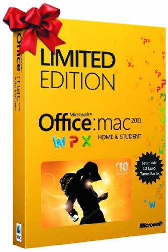 Office für Mac 2011 Home & Student Limited Edition (inkl. 10 EUR iTunes-Gutschein) - 3 Lizenzen