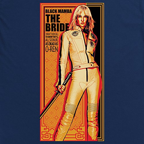 Official Kill Bill Vol 2 The Bride T-Shirt, Herren Dunkelblau