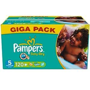 Pampers Baby Dry Windeln Gr.5 Junior 11-25 kg Giga , 120 Stück