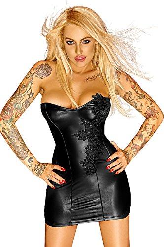 Noir Handmade Clubwear Corsagen Minikleid schwarz Partykleid Größe M