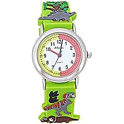 Ravel Funtime Boys 3D Dinosaur Design Time Teacher Strap Watch R1513.59