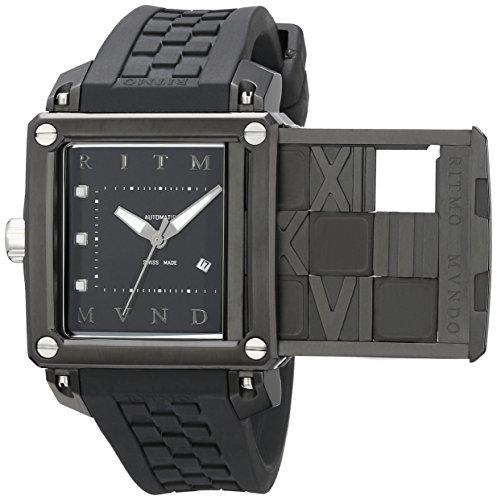 Ritmo Mundo Women's 511/3 SS Black Puzzle Slide Case Automatic Watch