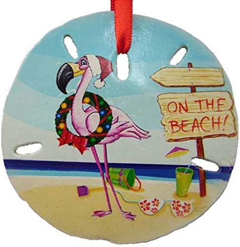 ment Weihnachtsdekoration Flamingo am Strand Sanddollar, 7,6 cm ()