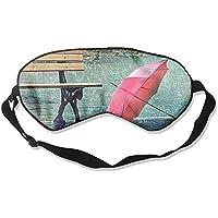 Eye Mask Eyeshade Red Umbrella Street Sleep Mask Blindfold Eyepatch Adjustable Head Strap preisvergleich bei billige-tabletten.eu