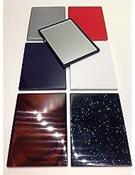 niavida 10 x Taschenspiegel eckig 8,5 x 6 cm