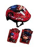 Miraculous Ladybug OMIR204 Set de Protections Mixte Enfant, Rouge