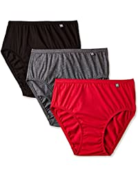 Jockey womens Cotton Hipster Panty Dark Assorted Color (Pack of 3) (Colors May Vary)