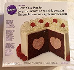 WMU - Tasty-Fill Cake Pan Set-Heart 8.5