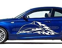 Autoaufkleber Delphin B x H: 40cm x 13cm Farbe: silber von Klebefieber®