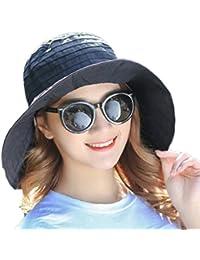 Gespout Cappelli Donna Eleganti Primavera Estate Cappello a Cilindro Vuoto  Protezione UV Panno Topper Colore Puro Cappello da Sole… f689dd084b0d