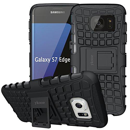ykooe Handys Schutzhülle Ständer für Samsung Galaxy S7 EDGE Hülle 5.2 Zoll