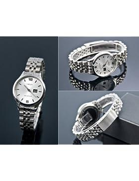 Damen Funk Armbanduhr (Junghans-Werk) Gehäuse und Armband aus Edelstahl, Funkuhr, 964.4790.79