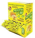 Mental Zenzero Miele 750gr Caramelle Biologiche Senza Glutine e Senza Coloranti. Solo Aromi Naturali. Caramelle Incartate singolarmente. Box da 750gr
