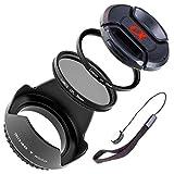 LUMOS 5er Zubehör Set mit 55mm für jedes Sony Alpha Objektiv mit 55mm Filtergewinde Sony DT 18-55 mm 3.5-5.6 SAM II SAL18552 SAL1855 SAL35F18 SEL1670Z