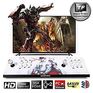 HLLGAME Pandora's Box Home Arcade Game Console, TV-Spielekonsolen 720P Retro-Videospiele Doppelstock Arcade Konsole, 2200 Klassische Spiele in 1 Arcade PC/Laptop/TV/PS, QM03