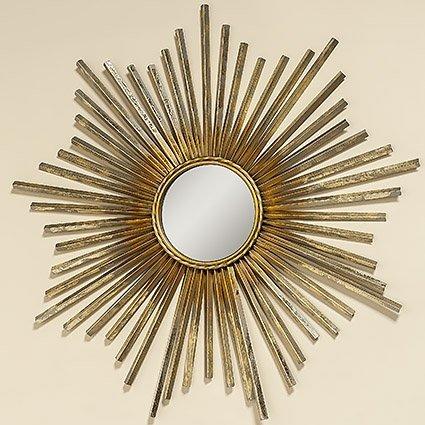 Home Collection - Muebles, decoración - Espejo de Pared - Patrón: Sol - Estilo: Étnico, Moderno - Material: Hierro - Color: Dorado - Ø 74 cm