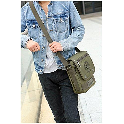 Outreo Borsa Tracolla Sport Sacchetto Vintage Borse a Spalla Uomo Borsello Viaggio Borsetta Messenger Bag per Tablet Tasche Verde
