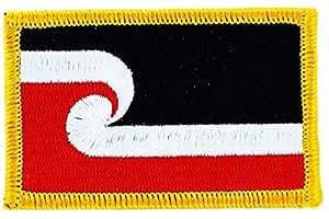 Patch écusson brodé drapeau maori flag thermocollant insigne blason