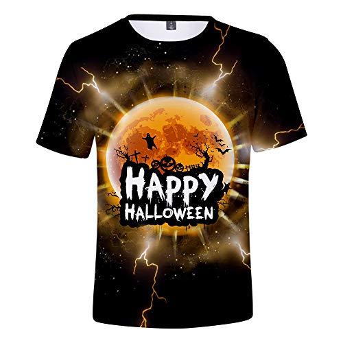 3D T-Shirt Unisex HD Gedrucktes Rundhalsausschnitt Lässig Mit Print Kurzarm Top Halloween M