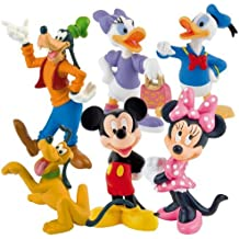 Bullyland Disneys Mickey - 6 Figures Playset Cake Topper Size 6 - 10 cm by Disney