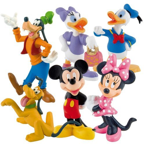 ckey - 6 Figures Playset Cake Topper Size 6 - 10 cm by Disney (Disney Cake Topper)