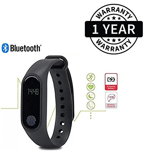 SuroskieTM Intelligence Sweatproof Smart Fitness WristBand With Heart Rate Sensor, Pedometer, Sleep Monitoring Functions With Notification Reminder Great for Gymming and Jogging Compatible With All SmartPhones (One Year Warranty)